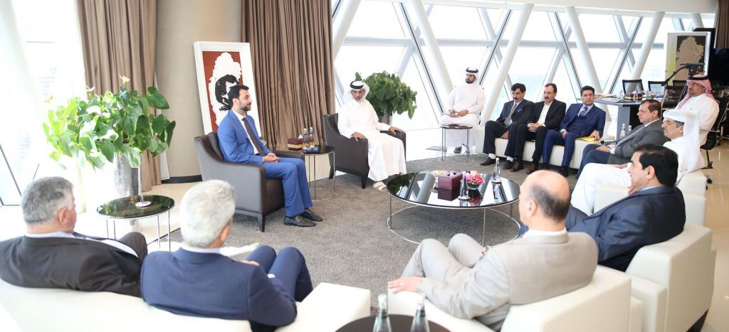 QFA President Receives Iraq's Minister of Youth and Sports and IFA President