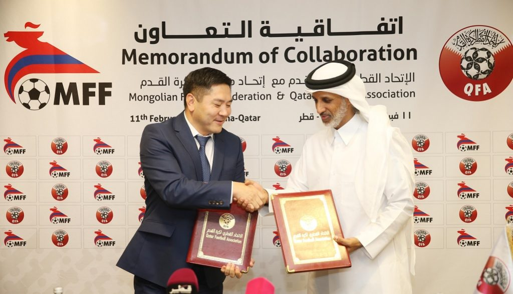 Qfa And Mongolian Football Federation Sign Cooperation Agreement