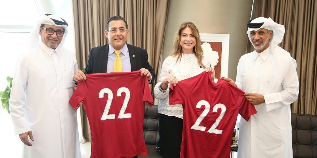 QFA President Receives Ecuador's Ambassador and Defence Minister