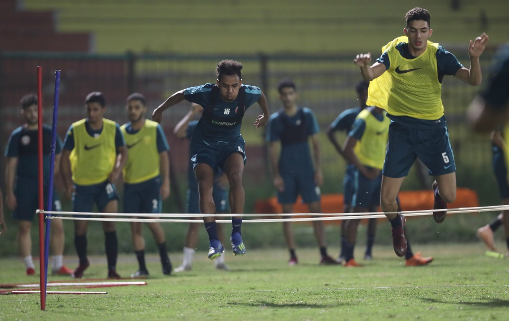 U-19 squad hits the training pitch ahead of Asian Cup opener