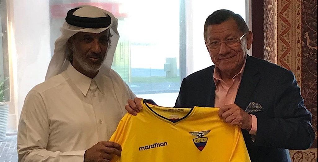 QFA President meets Ecuador football, embassy officials